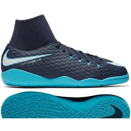 Hallenschuhe Nike HypervenomX Phelon Iii Df Ic Jr 917774-414 blau marine, blau 2