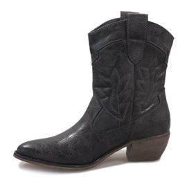 Graue Cowgirl Stiefel 10601-1 2
