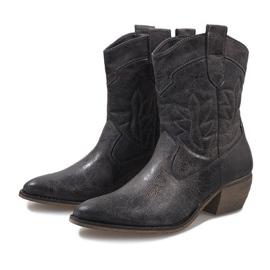 Graue Cowgirl Stiefel 10601-1 3