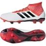 Fußballschuhe adidas Predator 18.2 Fg M CM7666 weiß weiß, rot 2