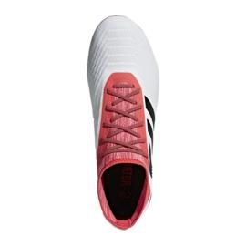 Fußballschuhe adidas Predator 18.2 Fg M CM7666 weiß weiß, rot 3
