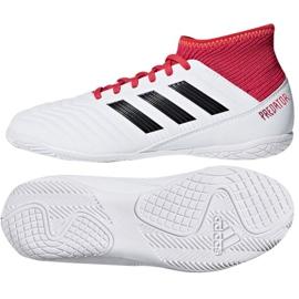 Adidas Predator Tango 18.3 In Jr CP9073 Indoor-Schuhe weiß, rot weiß 3