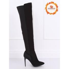 Schwarz Overknee Stiefel schwarz 0H010 Schwarz 1