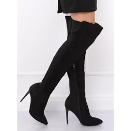 Schwarz Overknee Stiefel schwarz 0H010 Schwarz 5