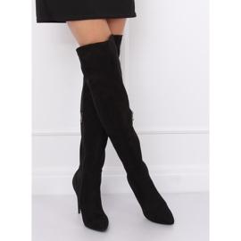 Schwarz Overknee Stiefel schwarz 0H010 Schwarz 2
