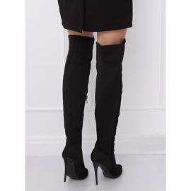 Schwarz Overknee Stiefel schwarz 0H010 Schwarz 3