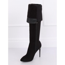 Schwarz Overknee Stiefel schwarz 0H010 Schwarz 4