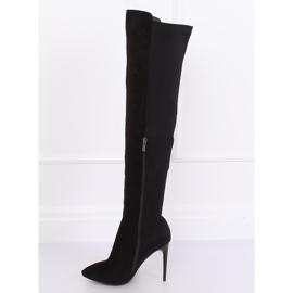 Schwarz Overknee Stiefel schwarz 0H010 Schwarz 6