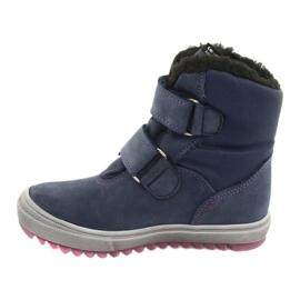 Stiefel mit einer Membran Mazurek 1353 Marineblau 2