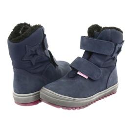 Stiefel mit einer Membran Mazurek 1353 Marineblau 3