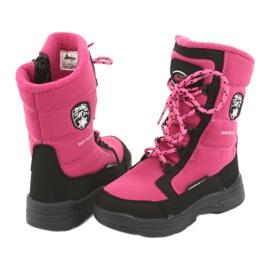 Schneeschuhe mit American Club SN13 Membran pink / schwarz 4