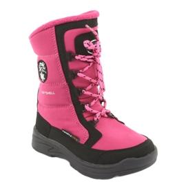 Schneeschuhe mit American Club SN13 Membran pink / schwarz 1