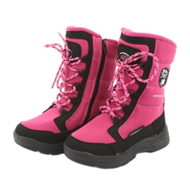 Schneeschuhe mit American Club SN13 Membran pink / schwarz 3