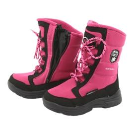 Schneeschuhe mit American Club SN13 Membran pink / schwarz 5