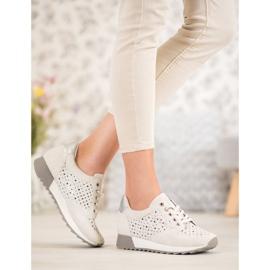 Kylie Durchbrochene Schuhe Auf Der Plattform braun 7