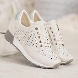Kylie Durchbrochene Schuhe Auf Der Plattform braun 2