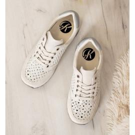 Kylie Durchbrochene Schuhe Auf Der Plattform braun 4