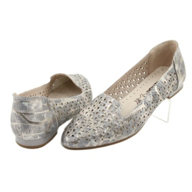 Lordsy Ballerinas Lavendel / Gold Daszyński SA151 4