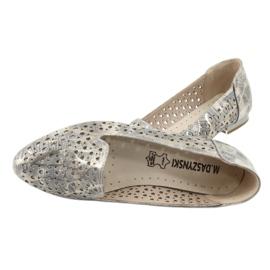 Lordsy Ballerinas Lavendel / Gold Daszyński SA151 5
