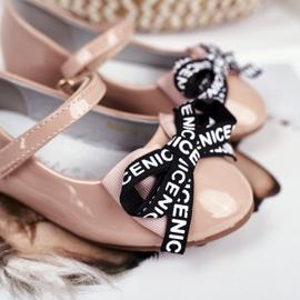 S.Barski Bar Beige Kinder Ballerinas Mindi Klettverschluss 4