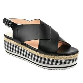 Schwarze Sandalen auf Plattform 1507-1 1