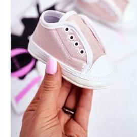 Apawwa Baby-Klett-Turnschuhe mit Glitzer-Taufe Rosa Milley pink 1
