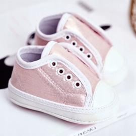 Apawwa Baby-Klett-Turnschuhe mit Glitzer-Taufe Rosa Milley pink 2