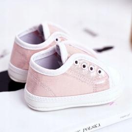 Apawwa Baby-Klett-Turnschuhe mit Glitzer-Taufe Rosa Milley pink 4