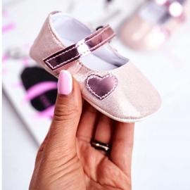 Apawwa Baby Sneakers Klettverschluss Taufe Pink Bellawa 2
