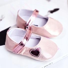 Apawwa Baby Sneakers Klettverschluss Taufe Pink Bellawa 1