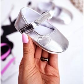 Apawwa Taufe Baby Klettverschluss Turnschuhe Bellawa Silber grau 1