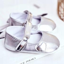 Apawwa Taufe Baby Klettverschluss Turnschuhe Bellawa Silber grau 2