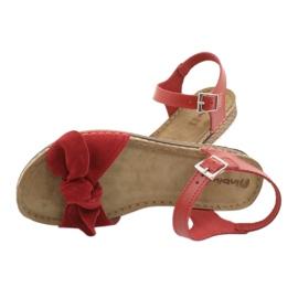 Comfort Inblu Damenschuhe 158D117 rot 5