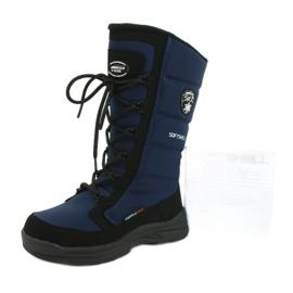 American Club Amerikanische Softshell-Stiefel mit SN12 / 20 Navy Membran schwarz marine 5