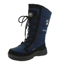 American Club Amerikanische Softshell-Stiefel mit SN12 / 20 Navy Membran schwarz marine 6