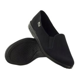 Schwarze Slip-On Hausschuhe Befado 001M060 3