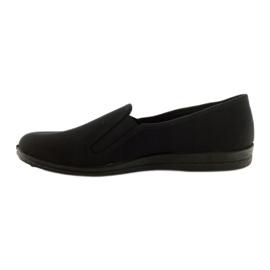 Schwarze Slip-On Hausschuhe Befado 001M060 2