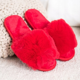 Bona Stilvolle rote Hausschuhe 1
