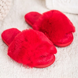 Bona Stilvolle rote Hausschuhe 2