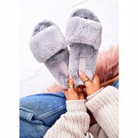 FRJ Frauenpelzpantoffeln Graue kalte Tage 3