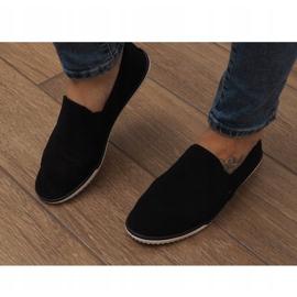 Lycra D16M Schwarze Slip-On Sneakers 1
