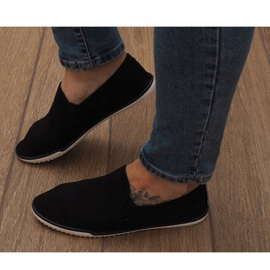 Lycra D16M Schwarze Slip-On Sneakers 2