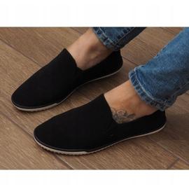 Lycra D16M Schwarze Slip-On Sneakers 3