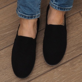 Lycra D16M Schwarze Slip-On Sneakers 4
