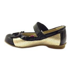 Ren But Ballerinas aus schwarzem und goldenem Leder Ren 2
