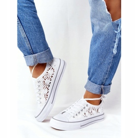 FB2 Weiße Candice Lace Sneakers für Damen 4