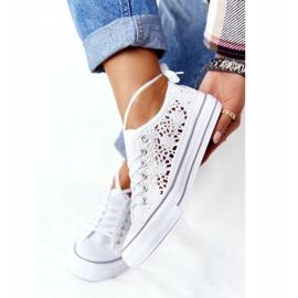 FB2 Weiße Candice Lace Sneakers für Damen 3