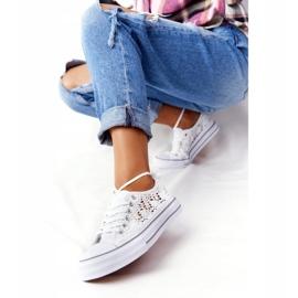 FB2 Weiße Candice Lace Sneakers für Damen 1