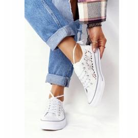 FB2 Weiße Candice Lace Sneakers für Damen 2