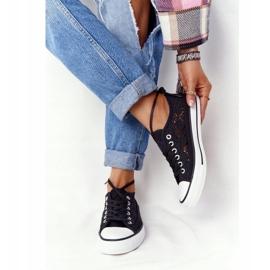 FB2 Schwarze Spitzen Candice Sneakers für Damen 1